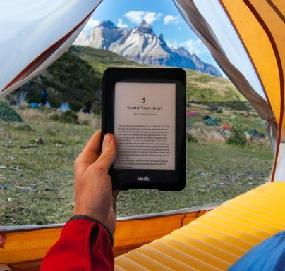 E-Book Reader im Zelt