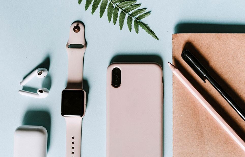 Apple Produkte rosa